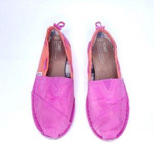 TOMS Shoes - Toms Pink & Orange Boat Shoe size 7.5